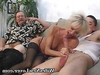 Blonde Cougar Ladyboy Lover Mature MILF Nasty Old and Young