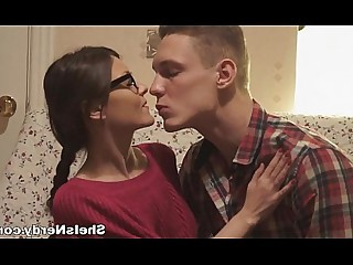 Ass Blowjob Brunette Cumshot Facials Fuck Glasses Hot
