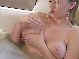 Angel Bathroom Blonde Dildo Inside Masturbation Ride Wet