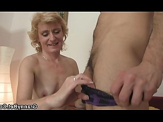 Gang Bang Granny Housewife Mammy Mature Old and Young Teen Wife