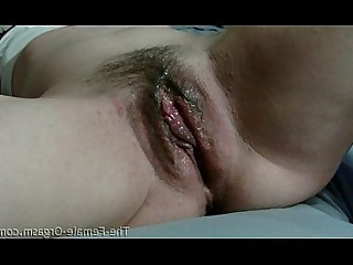 Close Up Cumshot Hairy Masturbation Orgasm Pussy Really Wet