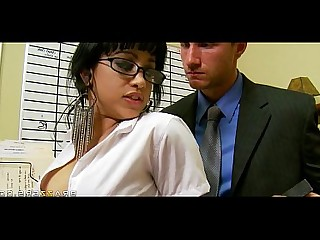 18-21 Brunette Facials HD Office Sucking
