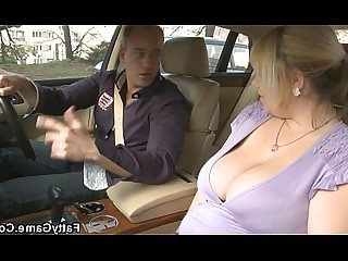 Big Tits Blonde Blowjob Boobs Car BBW Fatty Fuck